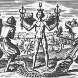 Hermes con alas y sujetando serpientes